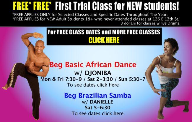 Samba and African dance